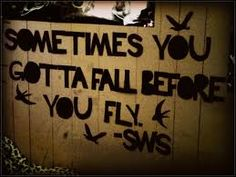 Sometimes you gotta fall before you fly <3 - Sleeping With Sirens