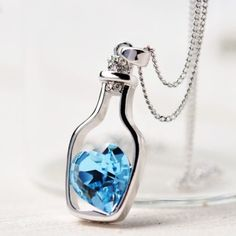 Brand New Sapphire Gem Necklace Brand New & Comes Packaged. 37cm in length Jewelry Necklaces