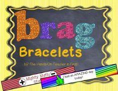 STUDENT BRAG BRACELETS: GREAT FOR POSITIVE REINFORCEMENT! - TeachersPayTeachers.com