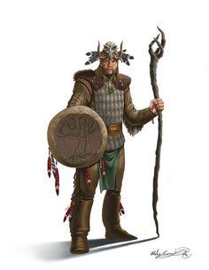 m Cleric w staff sheild med armor Mates Laurentiu