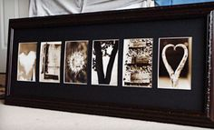 Custom Framed Letter Art in a Standard or Deluxe Frame from Frame the Alphabet (Up to Off) String Letters, Framed Letters, Picture Letters, Picture Frame, Diy Birthday Gifts For Him, Alphabet Photography, Art Photography, Name Pictures, Collage Pictures