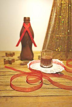 Hoje para jantar ...: Licor de chocolate e ginja - Cabazes de Natal