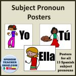 Spanish Subject Pronoun Posters and other bulletin board ideas for your Spanish classroom.