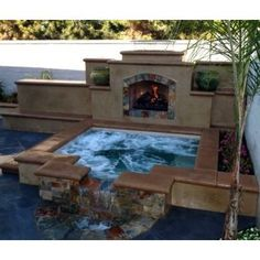 Backyard Ideas With Hot Tub backyard hot tub ideas with nice lounge deck amazing backyard hot tub ideas Jacuzzi Fireplace In Beautiful Downtown Riverside Riverside Ca Wwwriversidecarealestateagents California Poolspool Ideasbackyard