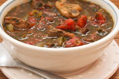 This recipe for Leftover Roast Beef Italian Stew is delicious and it's Low-Carb, Gluten-Free, Paleo, and SBD Phase One. [from KalynsKitchen.com] #DeliciouslyHealthyLowCarb