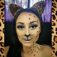 Cheetah Halloween Makeup  Rachelle  (@raeofsunshinebeauty) • Instagram photos and videos