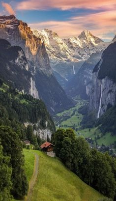Like straight out of a painting in Lauterbrunnen, Berner Oberland, Switzerland.