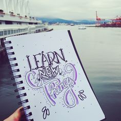 With the new year around the corner 'Learn New Things' - 87//365 #type #type365 #typechallenge #typelove #thedailytype #thegrind #theknow #learn #goodtype #typeday #letter #lettering #bestoftheday #picoftheday #handletter #design #creative #VanCity #Vancouver #new #goodtype #inspire #inspiration #mnliable #yolo