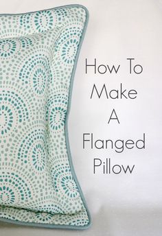 Hi everyone!  Today I'm posting over at So Sew Easy about how to make a flanged pillow.  This flanged pillow has cording around the outside, and a zipper inserted in the back side.  One of my favorite kinds of pillows to make!  So, head on over to Deby's site and check it out!
