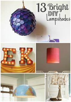 13 DIY lampshade ideas