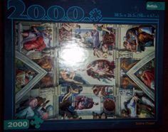 Sistine Chapel Ceiling Jigsaw Puzzle 2000 Piece Buffalo Games #BuffaloGames