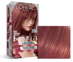 Change up your look and discover permanent hair dye by the experts at L'Oréal Paris. Rose Gold Hair Dye, Rose Gold Hair Brunette, Black Hair Dye, Dark Hair, Feria Hair Color, Red Hair Color, Cool Hair Color, Brown Hair Colors, Brown To Blonde Balayage
