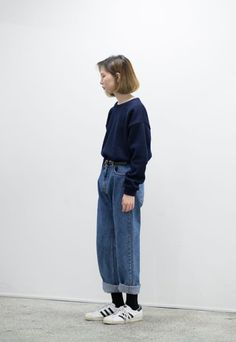 Inspiration Album: Straight-Legged Light Wash Jeans : femalefashionadvice