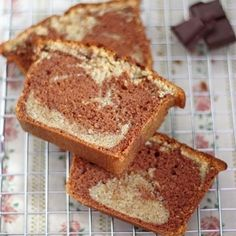 Marble cake (chocolate/vanilla) with buttermilk (in French)