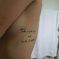 Hey Jude by the beatles lyrics tattoo.