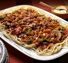 Ground turkey and ground lamb spaghetti