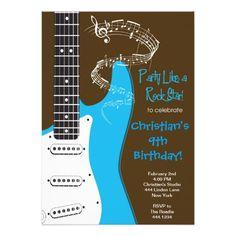 439 best rock star birthday party invitations images on pinterest in rock star guitar birthday invitations filmwisefo