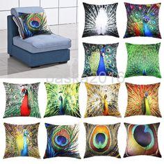 Gorgeous Peacock Pillowcase Protector For A Sofa Pillow Cover Cushion Home Decor