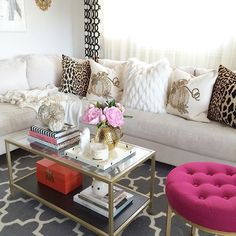 We have a His and Hers living room in our home. Obviously this one is my space  the previous one with dark sofa is my husband but hey  my Pink chair is there! so he said Im not fair! Lol  #livingroom #homedecor #decorating #interiorstyling #target #targetdoesitagain #pink #golddecor #ikeausa #homegoods #homegoodshappy #makehomeyours #pier1love #pier1Imports #marshalls #marshallsfind