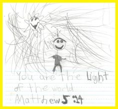 child's scripture journal page