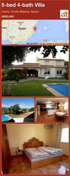 5-bed 4-bath Villa in Javea, Costa Blanca, Spain ►€850,000 #PropertyForSaleInSpain