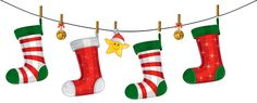 Transparent Christmas Stockings Decoration PNG Clipart