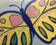Butterfly Painting - All paintings are taught at Painting and Pinot - Baton Rouge