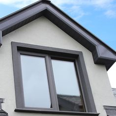 Beautiful PVC Windows in Basalt grey from Costello Porch Windows, Upvc Windows, House Windows, Windows And Doors, Exterior Rendering, Exterior Design, Composite Front Doors Uk, Anthracite Grey Windows, Home Exterior Makeover
