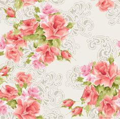 Studio-E-Paisley-Romance-Collection-Rose-Bouquets-Tossed-with-Grey-25-inches