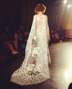 When I renew my vows, tomorrow, I will wear this with a magnificent headpiece #ClairePettibone