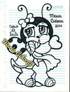 Joaninha vestida de flor de Copo de leite.