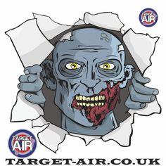 Target-Air Zombie Blue Head Targets (Pack of New Zombie, Zombie Walk, Zombie Girl, Zombie Catchers, Zombies Run, Zombie Hunter, Shooting Targets, Post Apocalyptic, Online Work