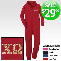 Sorority Onesie Pajamas with Embroidery $29.99 #sale #greek #clothing #letters