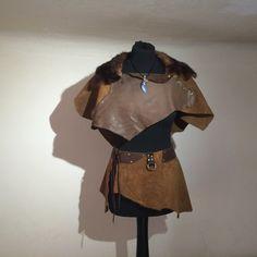 Skirt Leather Festival Medieval Vikings LOTR Lagertha von Elbengard
