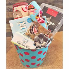 Baby gift basket. Perfect for a baby shower or birthday.