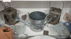 Lovely shabby chic & countrystyle accessories to brighten up the garden available at Bygone 5B, Bygone Times, Eccleston, Lancashire