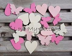 Pink-White-Butterfly-Heart-Table-Confetti-Scatter-Party-Wedding-Decoration-Craft
