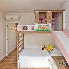 Kids Bedroom Designs, Kids Room Design, Bed Design, Castle Beds For Girls, Cool Girl Bedrooms, Loft Bed Plans, Princess Bedrooms, Small House Decorating, Toddler Rooms