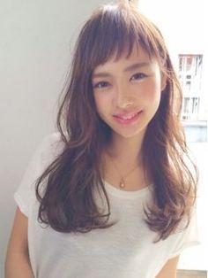 2017 spring and summer Medium Hair Styles, Short Hair Styles, Hair Arrange, Long Wavy Hair, Salon Style, Asian Hair, Hair Images, How To Make Hair, Hair Lengths