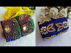 Flower Stud Earrings - floral earrings/ cluster earrings/ sparkly studs/ romantic earrings/ bridal jewelry/ gifts for her/ flower girl gift - Fine Jewelry Ideas Silk Thread Bangles Design, Silk Bangles, Bridal Bangles, Thread Jewellery, Fabric Jewelry, Kundan Bangles, Diy Jewellery, Hair Jewelry, Jewelry Art