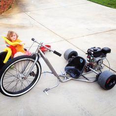 gas powered big wheel. yes please!!