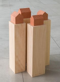 Available for sale from Galeria Luisa Strina, Tonico Lemos Auad, Untitled Burnt clay, 18 × 21 × 15 cm Clay Houses, Ceramic Houses, Miniature Houses, Sculpture Ornementale, Modern Sculpture, Architectural Sculpture, Architectural Models, Kitsch, Art Haus