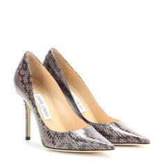 Jimmy Choo Abel Snakeskin Pumps (660 CAD) ❤ liked on Polyvore featuring shoes, pumps, grey, jimmy choo pumps, snake skin pumps, grey snakeskin pumps, gray shoes and grey snakeskin shoes