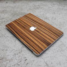 Real Mahogany Macbook Wood Keyboard Skin by AlvinIndustries