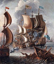 """A Sea Fight with Barbary Corsairs, after """" The Barbary pirates, sometimes called Barbary corsairs or Ottoman corsairs, were pirates and privateers who operated from North Africa,. Google Art Project, Anglo Dutch Wars, Diy Projects To Make And Sell, Craft App, Barbary Coast, Bateau Pirate, Pirate Life, Nautical Art, Art Google"""