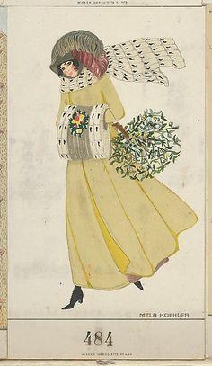 Christmas Card, Artist: Mela Koehler (Austrian, Vienna 1885–1960 Stockholm) Publisher: Wiener Werkstätte Date: 1911