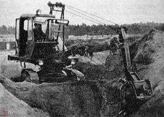 Экскаватор Э-157 с обратной лопатой и основным ковшом объемом 0,15 м3 1963 года