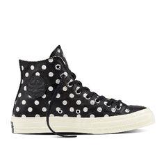 3d7e5778e40bbf Black Polka Dots Chuck Taylor All Star 70 Hi Sneakers