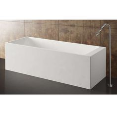 Metrix Blu Stone Large Freestanding  Rectangular Tub from Blu Bathworks $5,476.50 - $9,198.00 available in concrete finishes (grey) or black