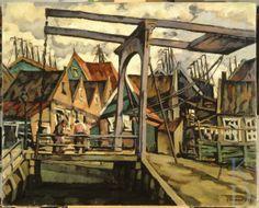 Jacques Chapchal Gezicht op Volendam, 1927  Enkhuizen, Zuiderzeemuseum #NoordHolland #Volendam